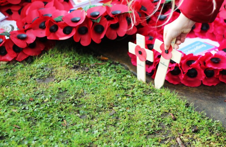 Remembrance Day at the War Memorial at Albert Bentley Place - Image: Kelly Nguyen