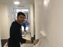 Kellogg's staff help transform Emmaus Charity communal area