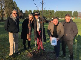 'Unsung' Salford hero plants tree at Monton Sport Club to mark Manchester Airport anniversary