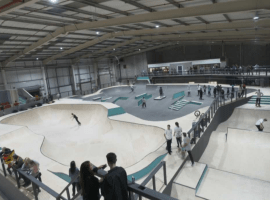 Watch: Olympic Snowboarder hosts event at Salford's new action sports centre Graystone
