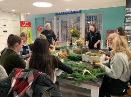 Florists advise on Christmas wreath making in Salford
