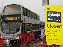 Two Salford bus stops closed indefinitely as road improvements continue
