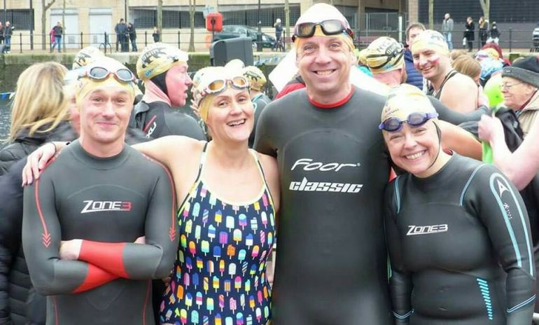 Salford quays new years day charity swim 2019 salford now - The quays swimming pool timetable ...
