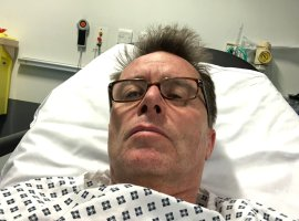 Nicky Campbell rushed to Salford Royal after 'kidney stone attack'