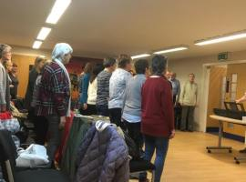 The singers at work!