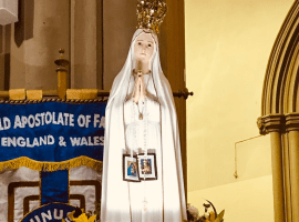 Our Lady of Fátima statue visits Salford Cathedral