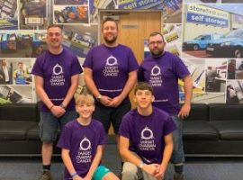Fund-raising family stop off in Salford whilst walking 200 miles