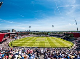 Old Trafford will host Nottinghamshire in mid-August in the Bob Willis Trophy. Credit: Lancashire Cricket