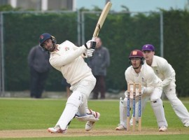 Glen Maxwell in action against Loughborough MCCU Credit: Lancashire Cricket