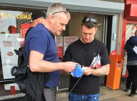 Tommy Robinson brings Euro campaign to Salford