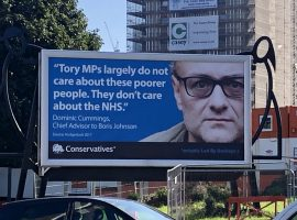 The provocative billboard in Salford