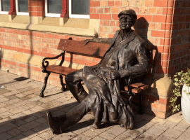 The Man on the Bench at Irlam Station. Photo Laura Joffre