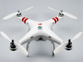 A typical drone that the public purchase. Image credit: Clément Bucco-Lechat