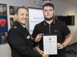 Salford Divisional Commander's award ceremony. Swinton Police Station. Image Credit: GMP