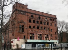 Image of the Eccles Crown Theatre: Image credit, Mair Llewellyn.