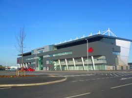 The coronavirus testing centre was set up in 24 hours at the AJ Bell Stadium in Salford.