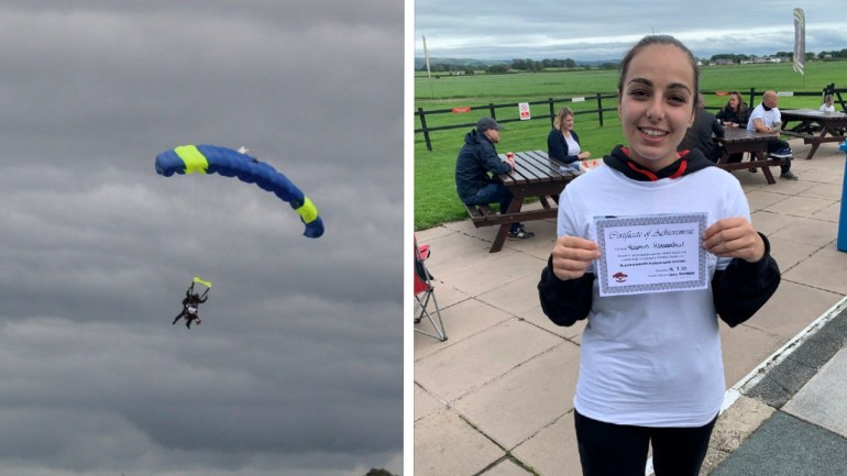 Broughton House skydive