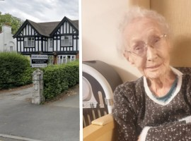 Peggy, a resident at Hope Manor Care Home, who is turning 100 on the 7th September.