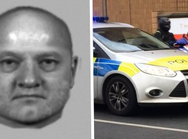 An e-fit of a suspect in a sexual assault in Walkden