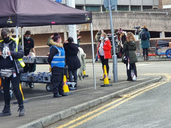 Hollywood hits Eccles Town Centre as new Tracy Beaker CBBC show begins filming