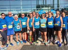 Salford 10k at MediaCityUK 2019. Group photograph. Image: Rebecca Denham