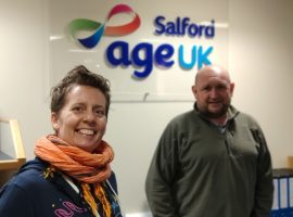 Emma Smith, project manager for Empowered Conversations and Age UK Salford CEO, Dave Haynes