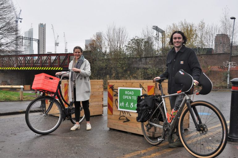 Harrie Larrington-Spence and Harry Gray from Walk Ride Greater Manchester