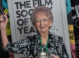 Marjorie Ainsworth, president of the Film Society (photo from 2016)