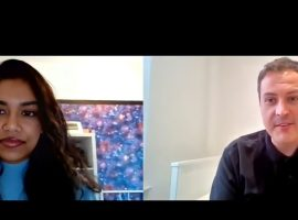 Screenshot from the zoom interview with Mike from talk about it mate-By Rutabah