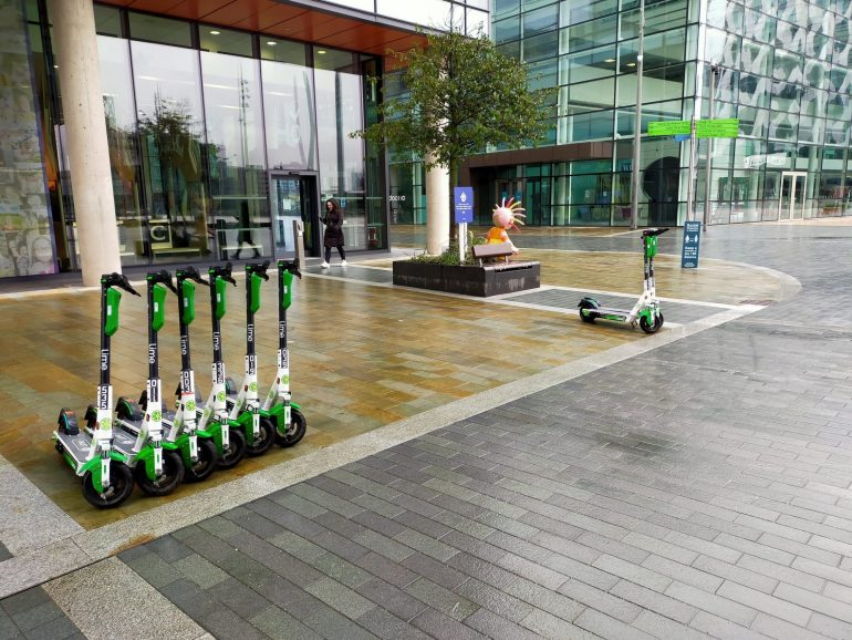 scooters at Media City