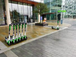 Scooters at MediaCity. Photo Credit: taken by Andrew Fisher