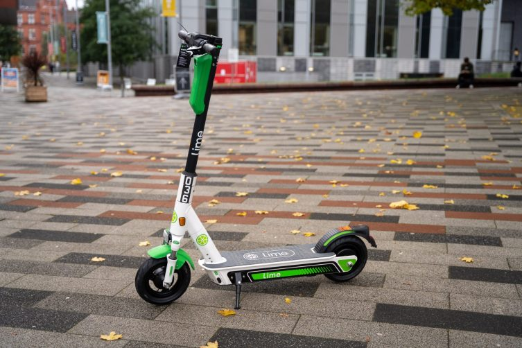 salford e-scooter on campus