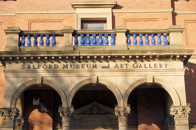 entrance to Salford Museum and art gallery