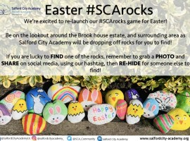 Easter #SCArocks Credit: Salford City Academy