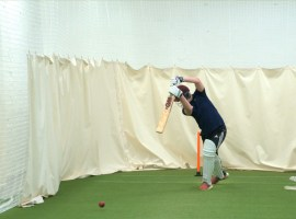 Salford Cricket Club in the nets. Image courtesy of Salford Cricket