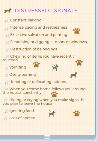 Dogs' distressed signals