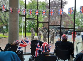 Members of the 236 (Manchester) Squadron at Broughton House's VE Day celebrations. Photo Credit: Broughton House Veteran Care Home Village