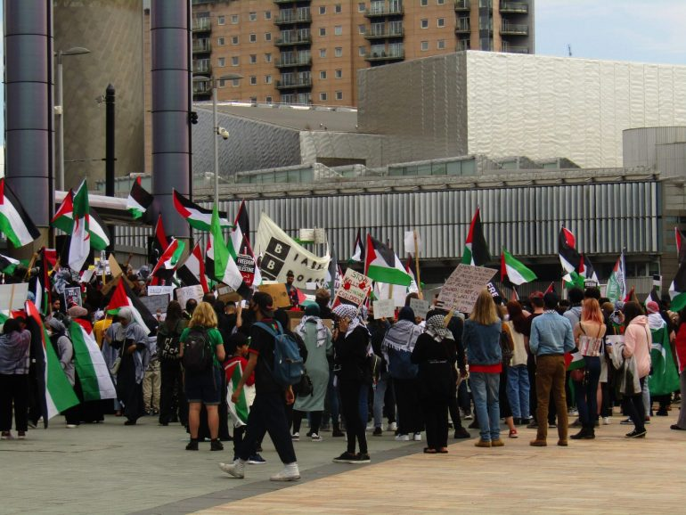 'Free Palestine' protesters