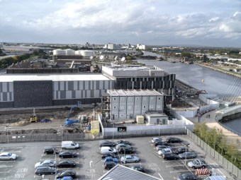 Now home to Coronation Street, the huge set of Crash of the Elysium was built on MediaCity's backlot for the initial Salford run (credit: David Dixon)