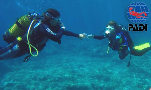 PADI Discover Scuba Diving DSD Try-Dive in Menorca with S'Algar Diving