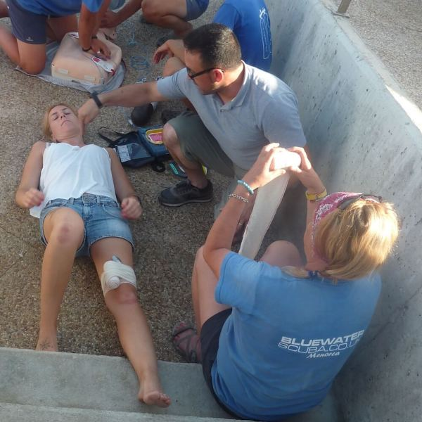 PADI EFR Emergency First Response Course, Menorca