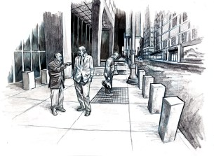 Story art - Chicago street scene
