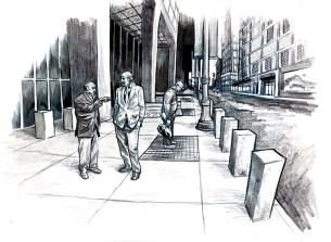 Story art - Chicago street scene
