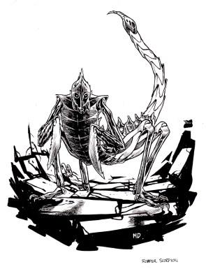 Gaming art - scorpion warrior