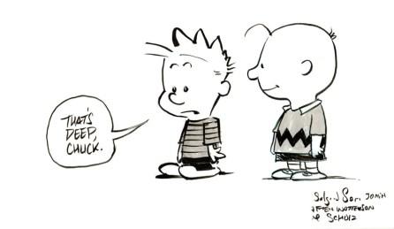 Comics art study - Bill Watterson & Charles Schulz