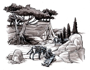 Educational illustration - religious parables and ancient history
