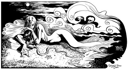 Book illustration - mermaid
