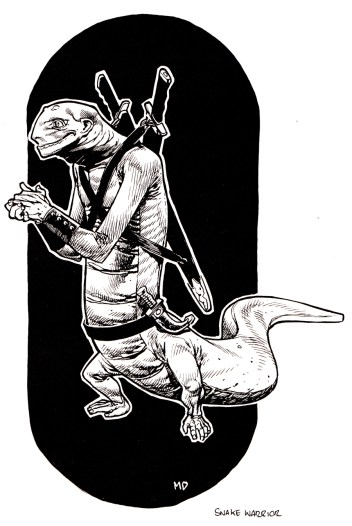 Gaming art - snake warrior