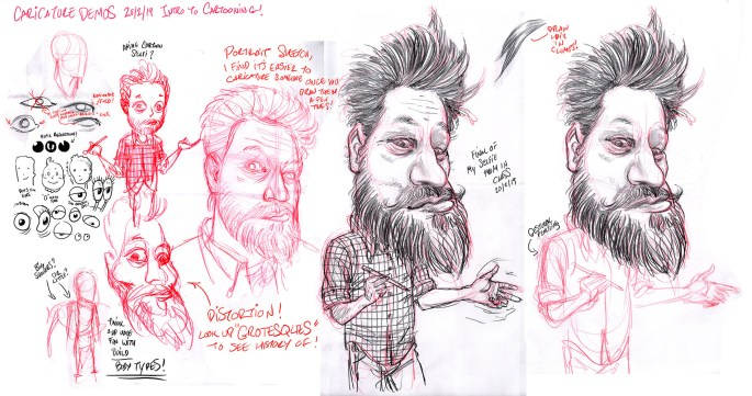 caricature demo from my class...