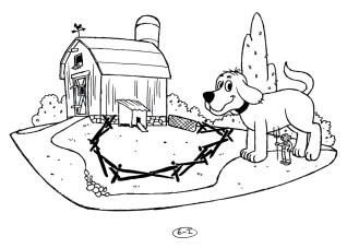 Childrens illustration for Scholastic - Clifford the big red dog!